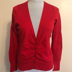Banana Republic red Cotton silk cashmere sweater